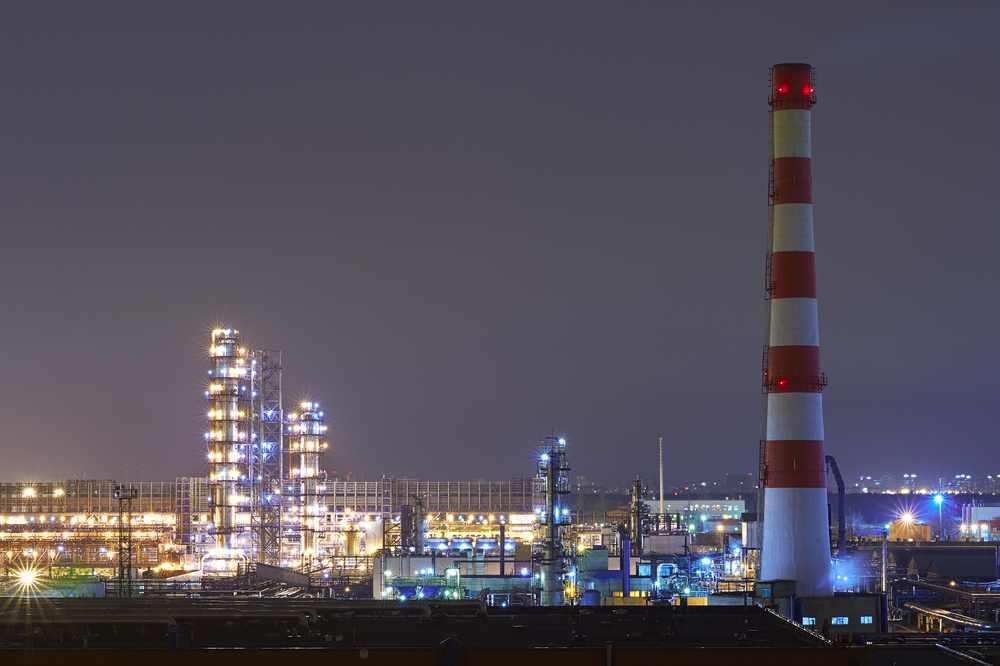 oil-refinery-night