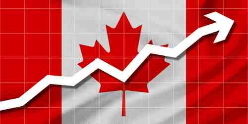 Canadian dollar up